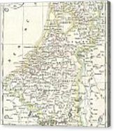 1832 Delamarche Map Of Holland And Belgium Acrylic Print