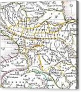 1835 Bradford Map Of Turkey In Asia And The Caucases Acrylic Print