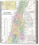 1836 Tanner Map Of Palestine  Israel  Holy Land Acrylic Print