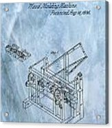 1836 Wood Molding Machine Acrylic Print