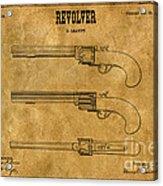 1837 Leavitt Revolver Patent Art 1 Acrylic Print