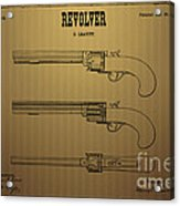 1837 Leavitt Revolver Patent Art 2 Acrylic Print