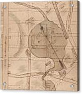 1840 Manuscript Map Of The Collect Pond And Five Points New York City Acrylic Print