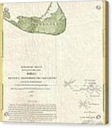 1846 Us Coast Survey Map Of Nantucket  Acrylic Print by Paul Fearn