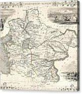 1851 Tallis And Rapkin Map Of Independent Tartary  Acrylic Print