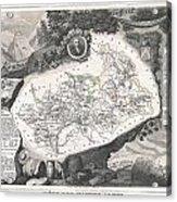 1852 Levasseur Map Of The Department Hautes Alpes France  Acrylic Print