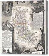 1852 Levasseur Mpa Of The Department De La Loire France Loire Valley Region Acrylic Print
