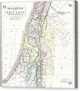 1852 Philip Map Of Palestine  Israel  Holy Land Acrylic Print