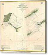 1853 Us Coast Survey Chart Or Map Of St Georges Sound Florida Acrylic Print