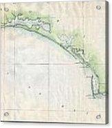 1853 Us Coast Survey Map Of The Western Florida Panhandle Acrylic Print