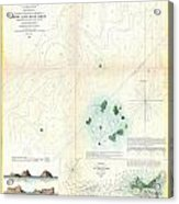 1853 Us Coast Survey Map Or Chart Of Sow And Pigs Reef Off Marthas Vineyard Massachussetts Acrylic Print