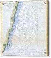 1853 U.s.c.s. Map Of The Virginia Coast Acrylic Print