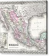 1855 Colton Map Of Mexico - Geographicus1855 Colton Map Of Mexico - Geographicus Acrylic Print