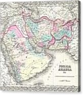 1855 Colton Map Of Persia Afghanistan And Arabia Acrylic Print
