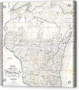 1856 Chapman Pocket Map Of Wisconsin Acrylic Print