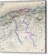 1857 Dufour Map Of Algeria Acrylic Print