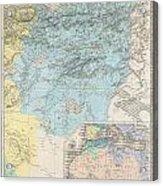 1857 Dufour Map Of Constantine Algeria Acrylic Print