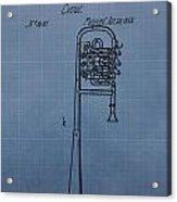 1858 Trumpet Patent Acrylic Print