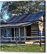 1860 Log Cabins Acrylic Print by Linda Phelps