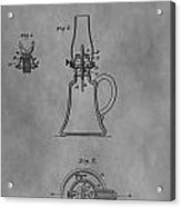 1861 Oil Lamp Patent Acrylic Print