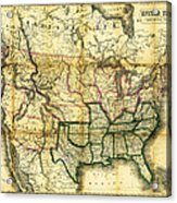 1861 United States Map Acrylic Print