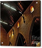 1865 - St. Jude's Church  - Interior 2 Acrylic Print by Kaye Menner