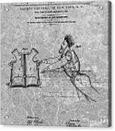 1869 Life Preserver Patent Charcoal Acrylic Print