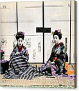 1870 Japanese Geisha In Drawing Room Acrylic Print