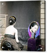 1870 Japanese Woman In Her Dressing Room Acrylic Print