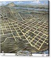 1871 Birds Eye Map Of Chattanooga Acrylic Print