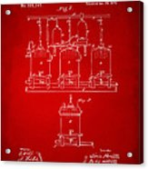 1873 Brewing Beer And Ale Patent Artwork - Red Acrylic Print