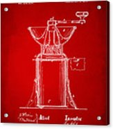 1873 Coffee Mills Patent Artwork Red Acrylic Print