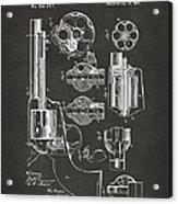 1875 Colt Peacemaker Revolver Patent Artwork - Gray Acrylic Print