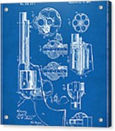 1875 Colt Peacemaker Revolver Patent Blueprint Acrylic Print