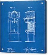 1876 Beer Keg Cooler Patent Artwork Blueprint Acrylic Print