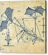 1879 Quinby Aerial Ship Patent Minimal - Vintage Acrylic Print by Nikki Marie Smith
