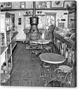 1880 Drug Store Black And White Acrylic Print