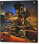 1880 Steam Locomotive  Acrylic Print