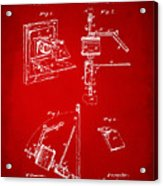 1881 Taylor Camera Obscura Patent Red Acrylic Print