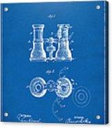 1882 Opera Glass Patent Artwork - Blueprint Acrylic Print