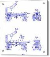 1885 Roller Skate Patent Blueprint Acrylic Print