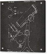 1886 Microscope Patent Artwork - Gray Acrylic Print