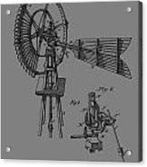 1889 Windmill Patent Acrylic Print