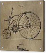 1890 Bicycle Patent Acrylic Print