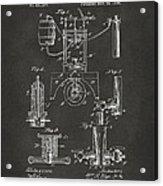 1890 Bottling Machine Patent Artwork Gray Acrylic Print