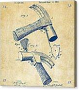1890 Hammer Patent Artwork - Vintage Acrylic Print