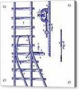 1890 Railway Switch Patent Blueprint Acrylic Print