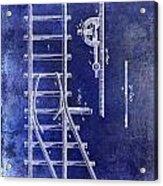 1890 Railway Switch Patent Drawing Blue Acrylic Print