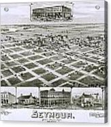 1890 Vintage Map Of Seymour Texas Acrylic Print