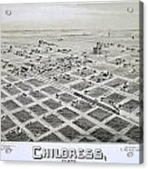 1890 Vintage Map Of Childress Texas Acrylic Print